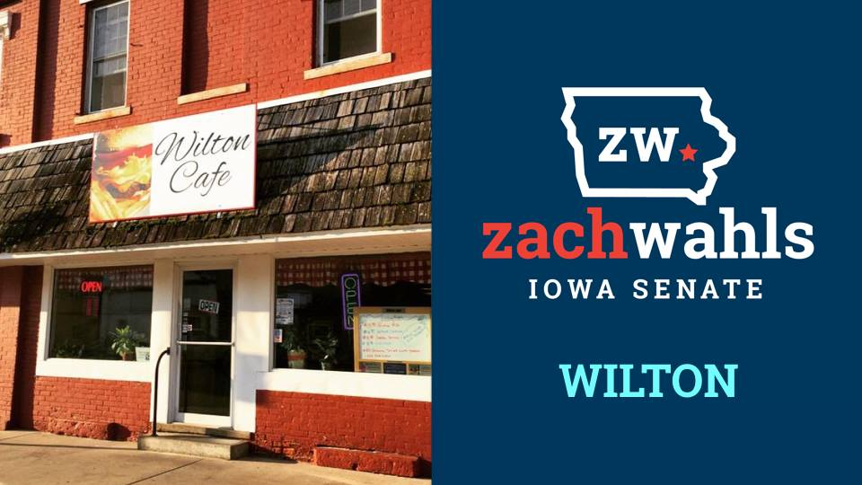 zach wahls wilton cafe